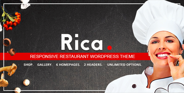 Rica – Responsive Restaurant WordPress Theme