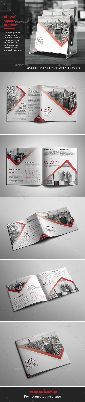 Corporate Bi-fold Square Brochure 10 - Corporate Brochures