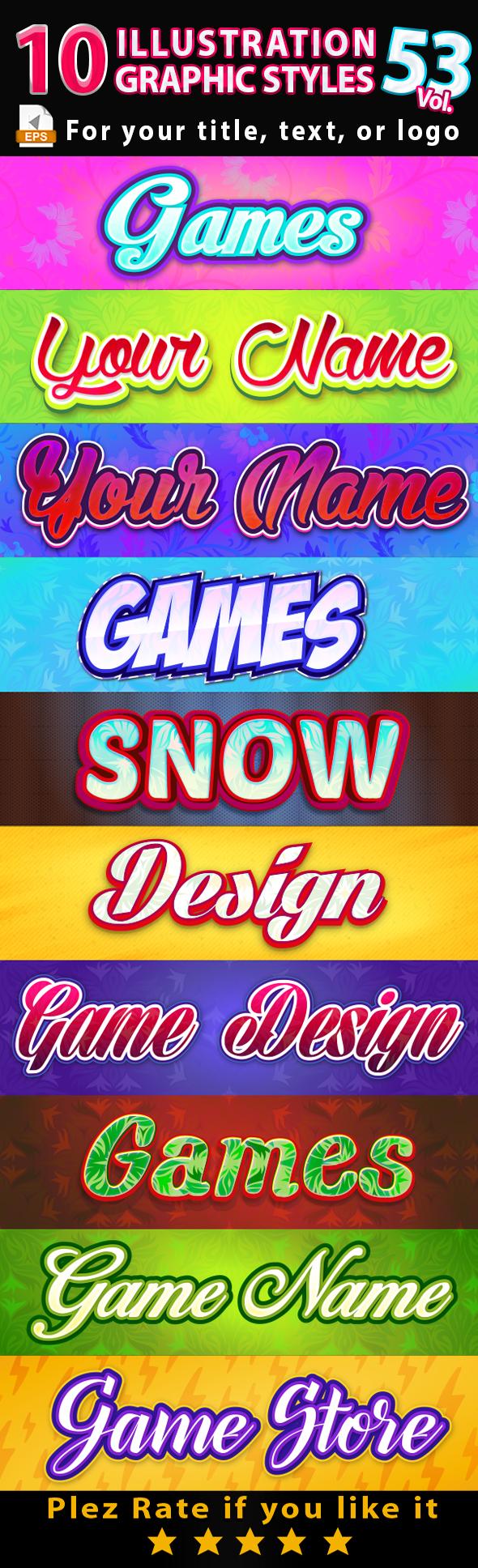 10 Illustrator Graphic Styles Vol.53 - Styles Illustrator