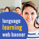 Language Learning Banner Ads - GraphicRiver Item for Sale