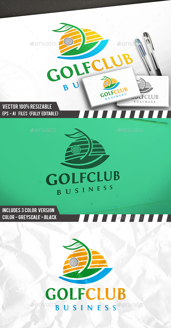 Golf Club Logo - Nature Logo Templates