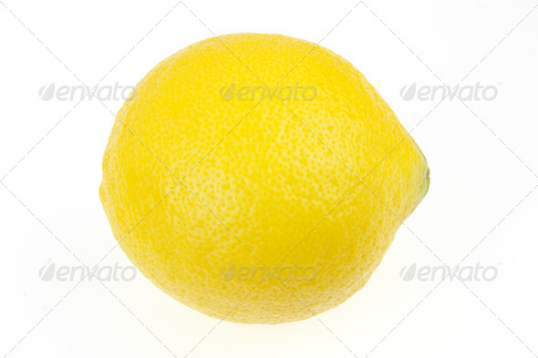 Italian Lemon isolated on white - Stock Photo - Images
