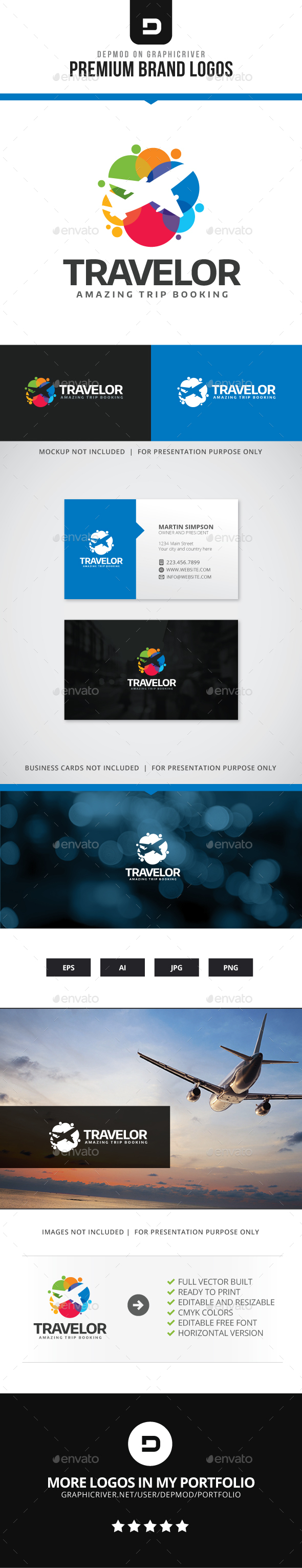 Travelor Logo - Symbols Logo Templates