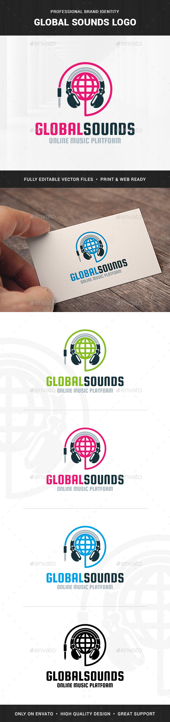 Global Sounds Logo Template - Objects Logo Templates