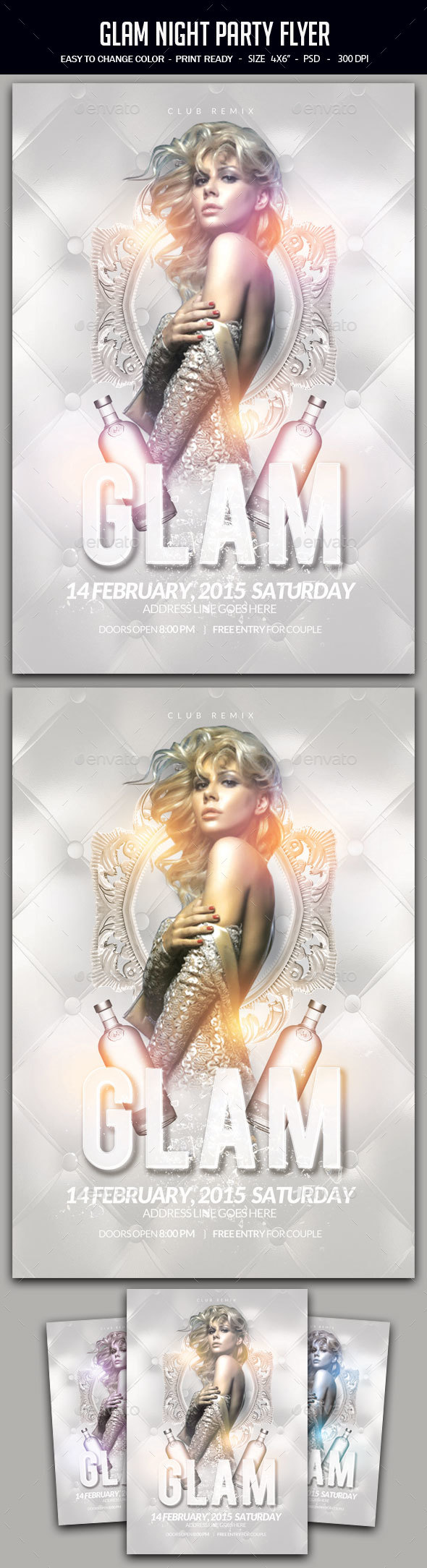 Glam Night Party Flyer - Clubs & Parties Events