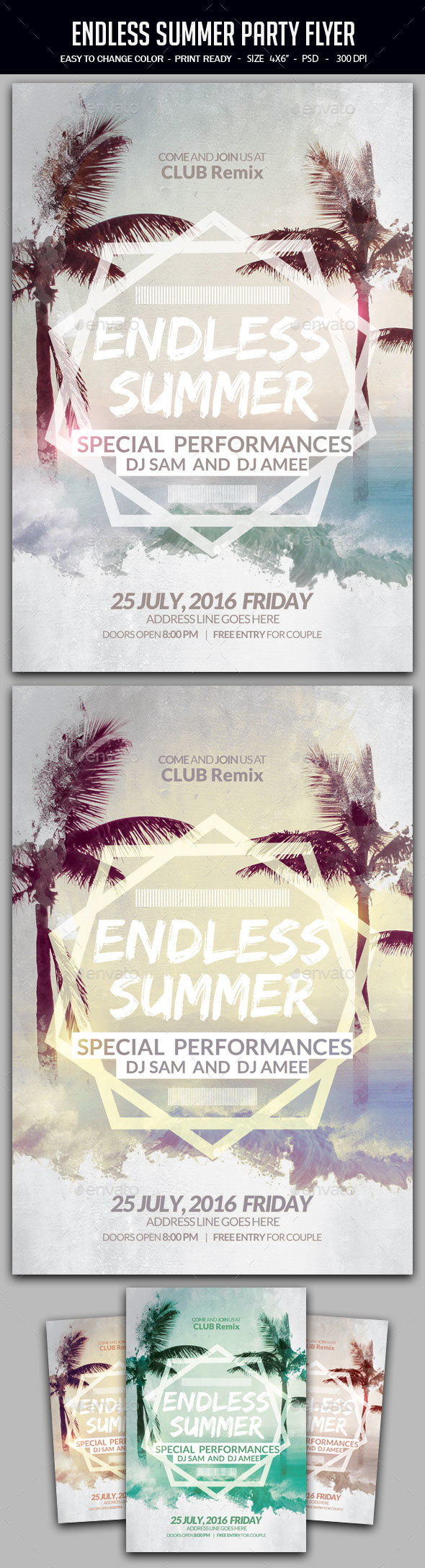 Endless Summer Party Flyer - Clubs & Parties Events