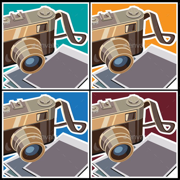 Retro Rangefinder Camera - Objects Vectors