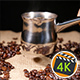 Coffe In Cezve And Coffee Beans On Bagging 3 - VideoHive Item for Sale