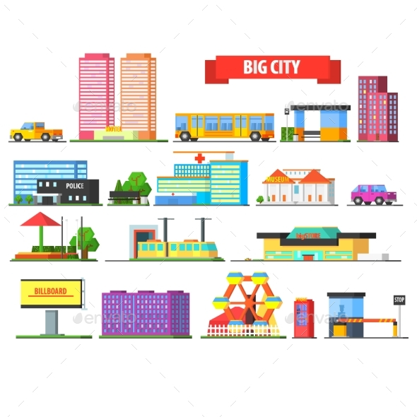 Big City Urban Icons Set - Miscellaneous Vectors