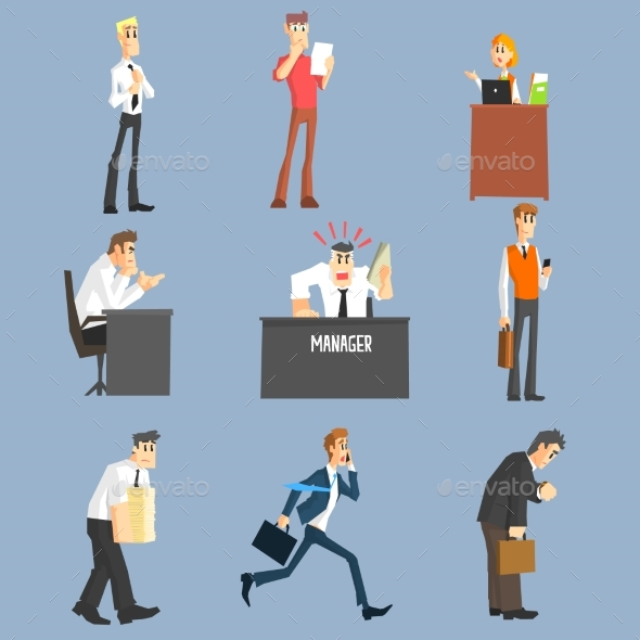 Office Workers Icon Set - Concepts Business