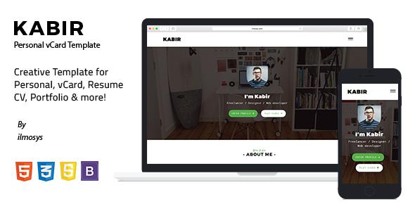 Kabir – Personal vCard Template
