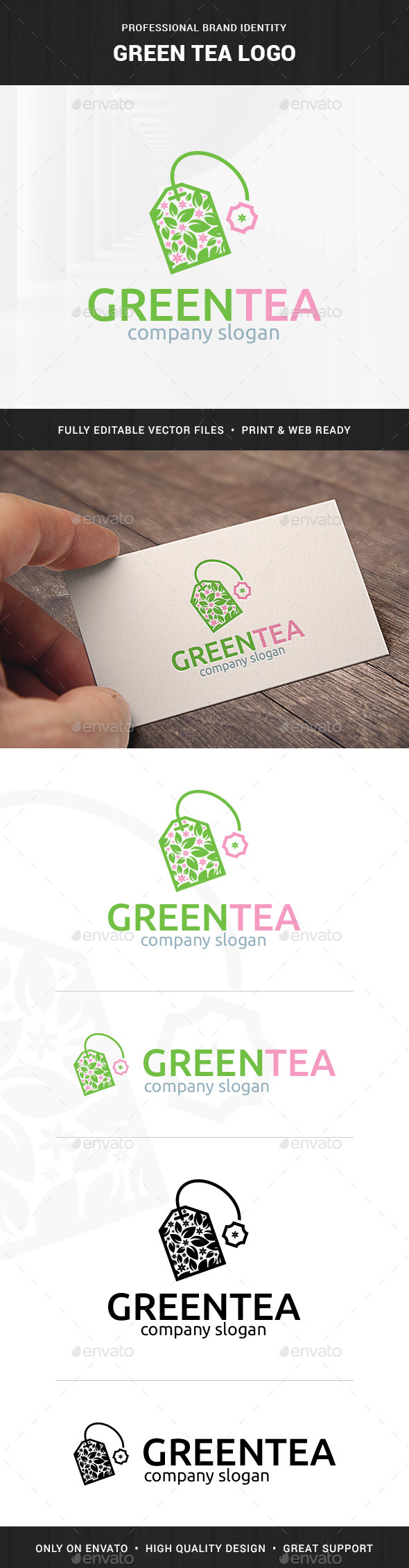 Green Tea Logo Template - Objects Logo Templates
