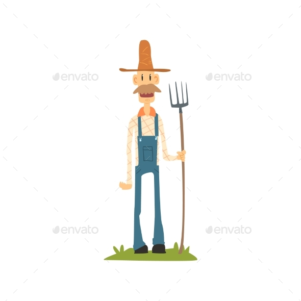 Classic Skinny Farmer in Jumpsuit - People Characters