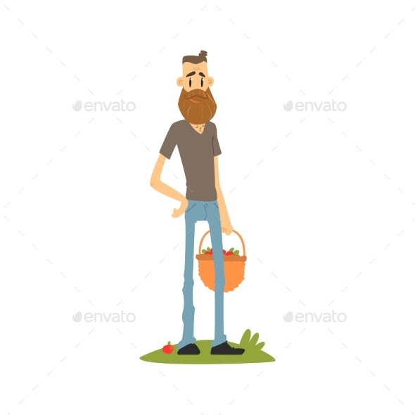 Hipster Skinny Farmer - Backgrounds Decorative