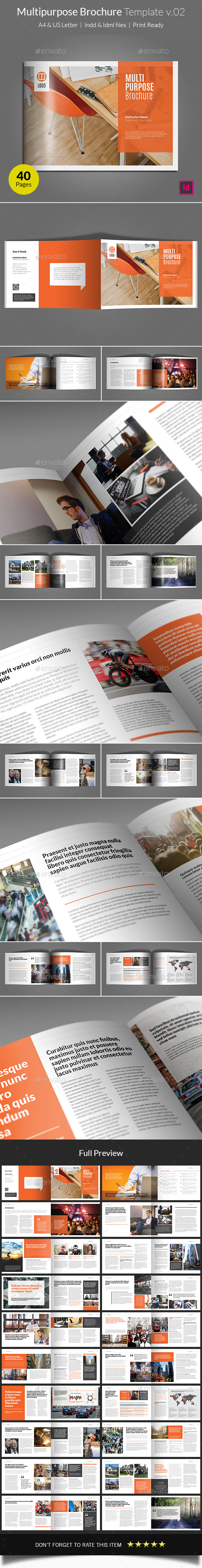Multipurpose Brochure Template v02 - Informational Brochures