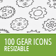 100 Gear Icons - GraphicRiver Item for Sale