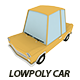 Lowpoly car - 3DOcean Item for Sale
