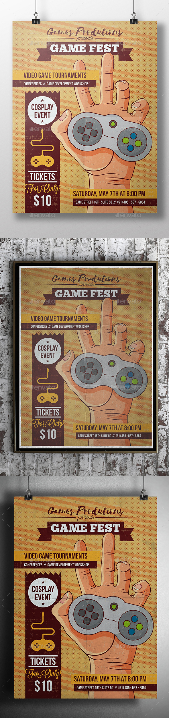 Video Games Poster Template - Miscellaneous Events