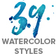 WaterCool Kit. Watercolor Styles - GraphicRiver Item for Sale