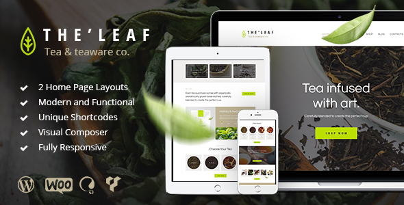 TheLeaf - Tea Production Company & Online Tea Shop WordPress Theme - Food Retail
