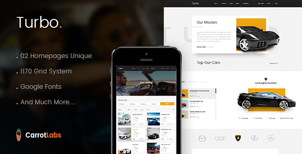 Turbo - Car Rental PSD Template - PSD Templates