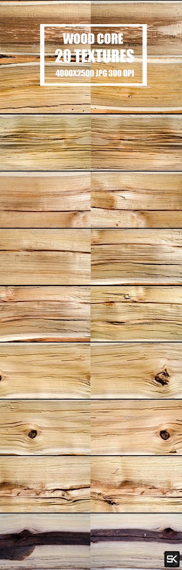 Wood Core Textures 2 - Wood Textures