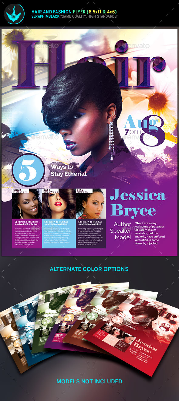 Hair and Fashion Conference Flyer Template - Events Flyers