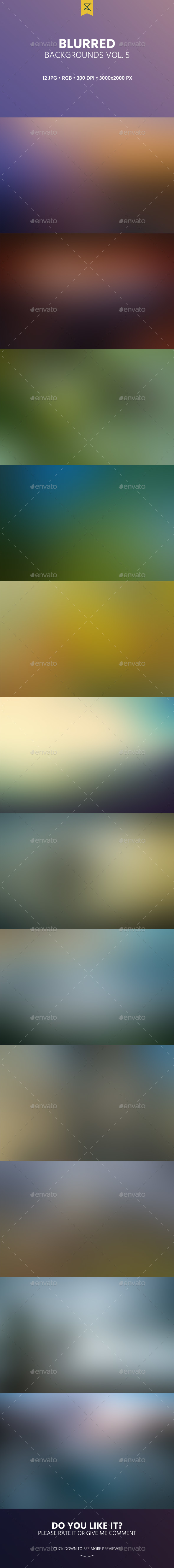 12 Blurred Backgrounds Vol. 5 - Backgrounds Graphics