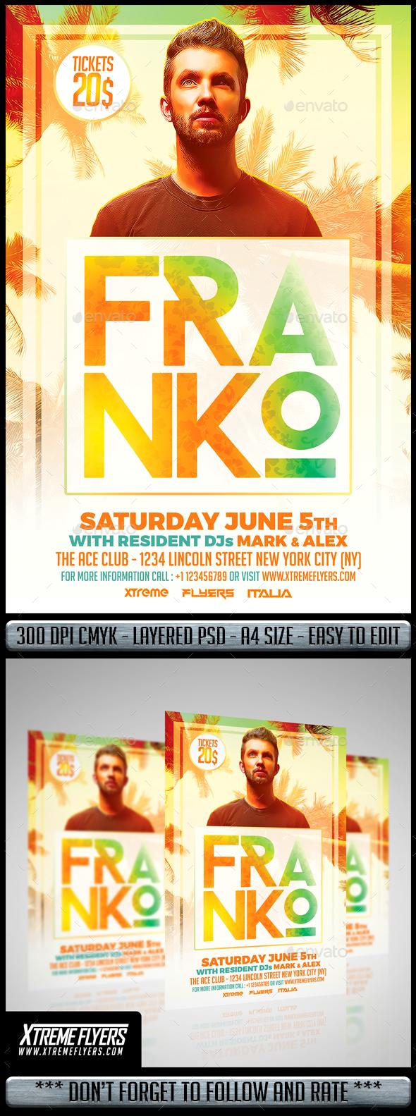 Miami DJ Flyer - Clubs & Parties Events