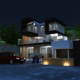Creative Night Mood Villa - 3DOcean Item for Sale