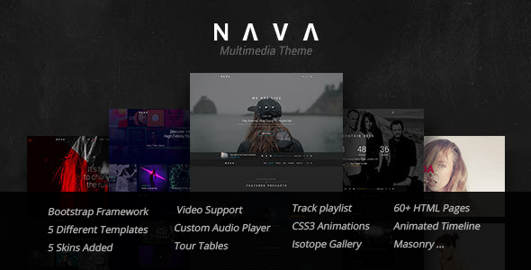 Nava – Music, Artist, Band, Radio | Ultimate Multimedia HTML Template