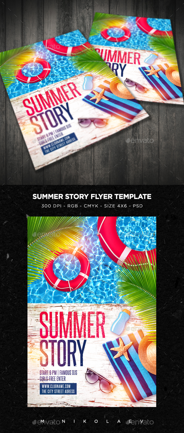 Summer Story Flyer - Clubs & Parties Events