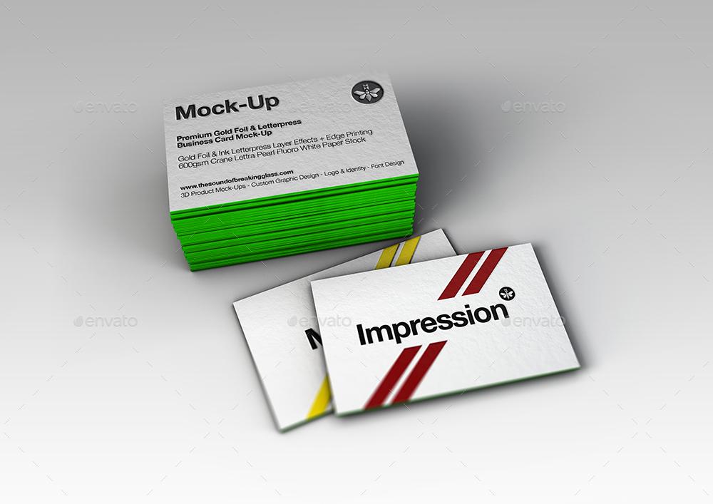 Luxury Gold Foil & Ink Letterpress Business Card Mock-Up by Mock-Up ...