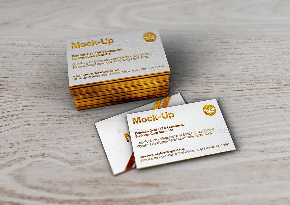 Luxury gold foil ink letterpress business card mock up by mock up screenzmm gold foil letterpress mock up 9g reheart Gallery