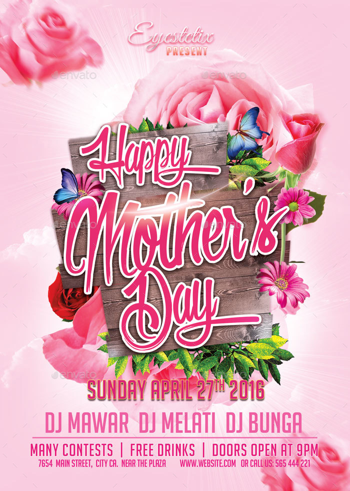 Mother'S Day Flyer By Eyestetixstudio | Graphicriver