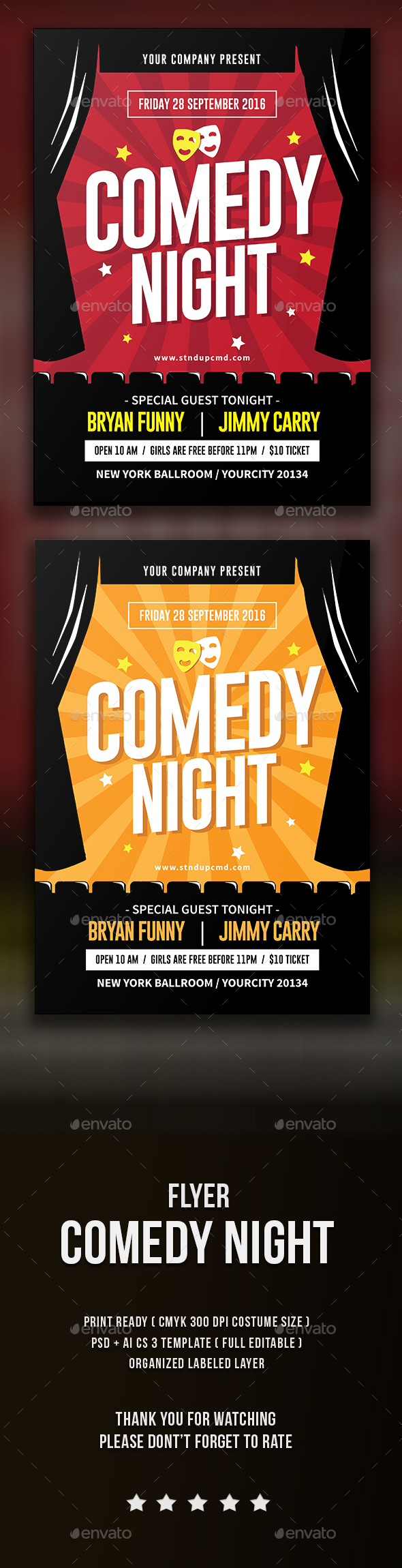 Comedy Night Flyer - Events Flyers