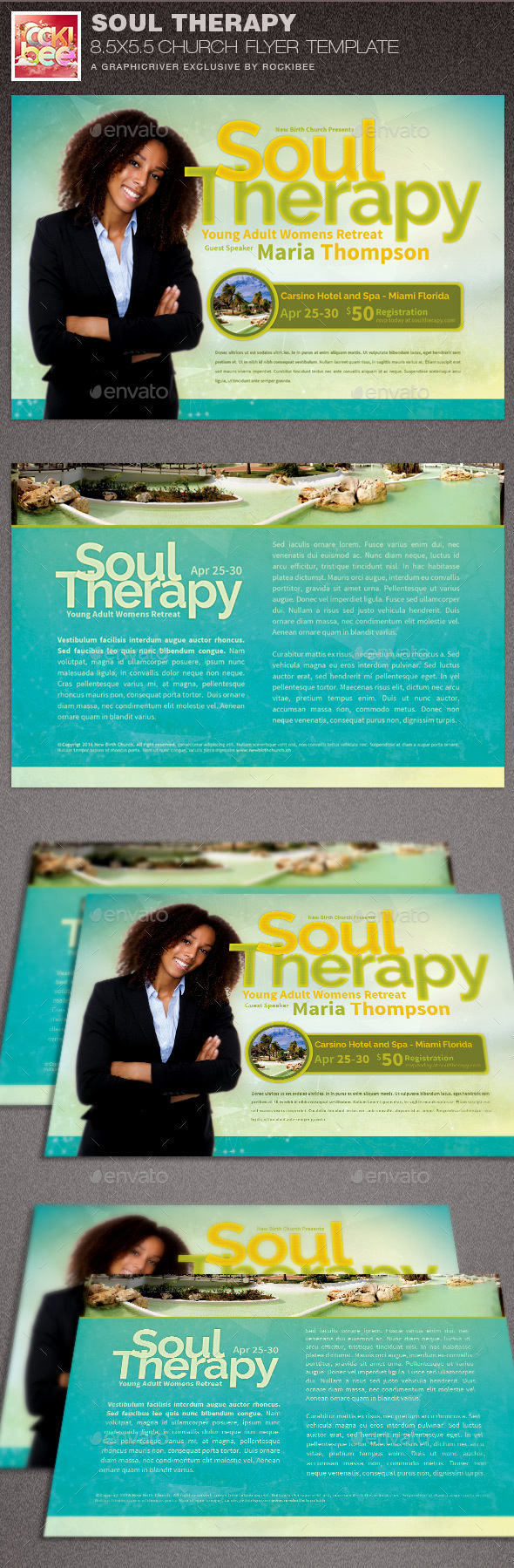 Soul Therapy Church Flyer Template - Church Flyers