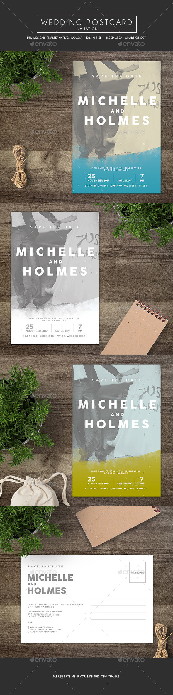 Wedding Postcard Invitation - Weddings Cards & Invites