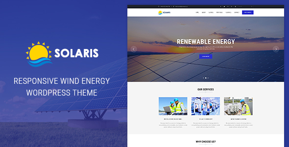 Ri Solaris – Solar Environmental Energy WordPress Theme
