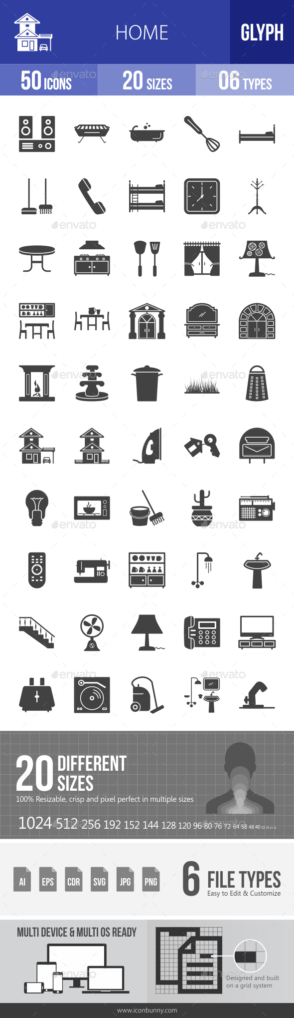Home Glyph Icons - Icons
