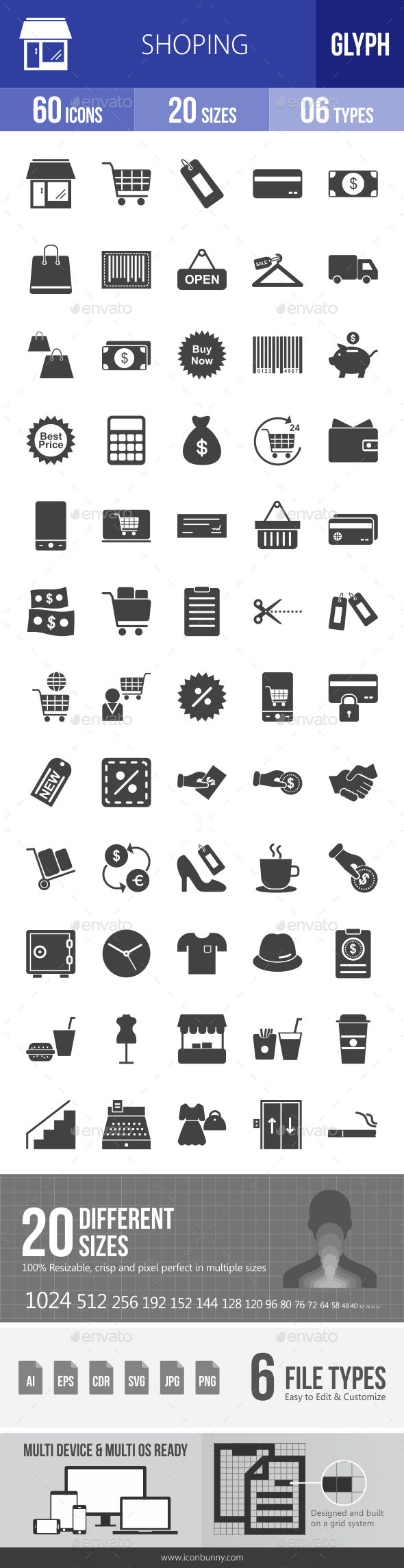 Shopping Glyph Icons - Icons