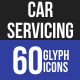 Car Servicing Glyph Icons - GraphicRiver Item for Sale