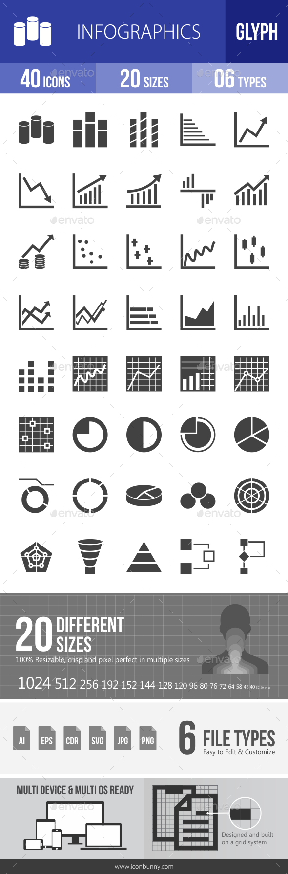Infographics Glyph Icons - Icons
