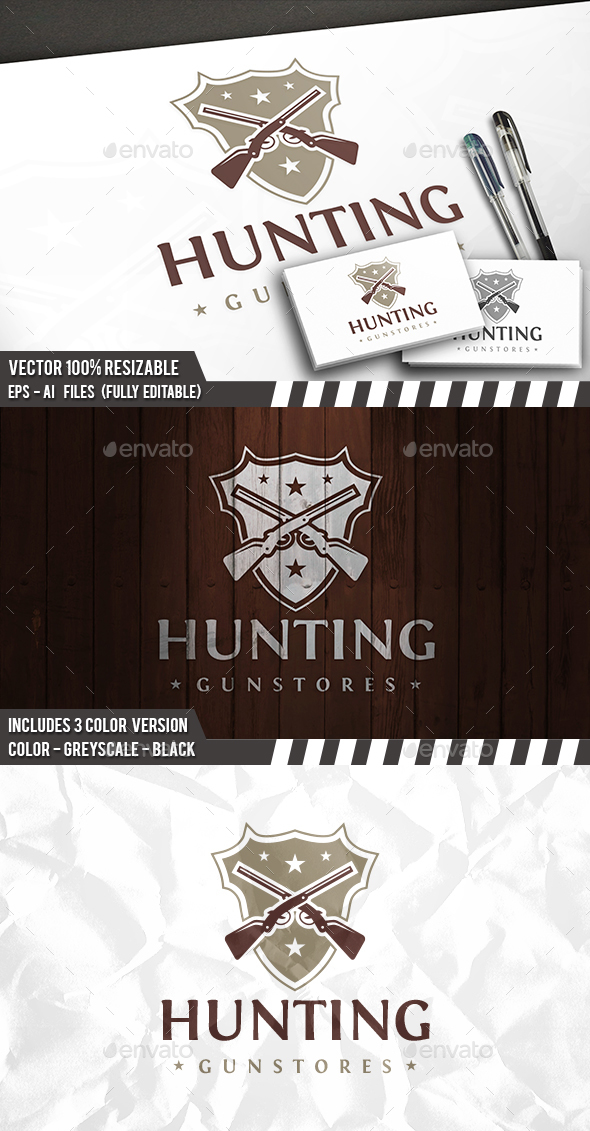 Hunting Logo - Crests Logo Templates