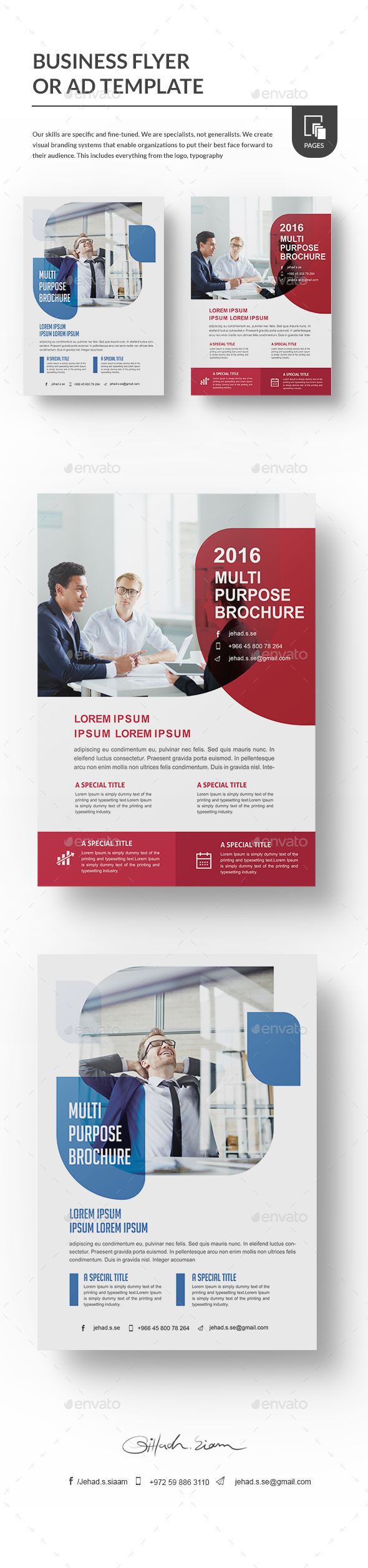 Business Flyer or Ad template - Flyers Print Templates