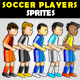 Soccer Player Sprites - GraphicRiver Item for Sale