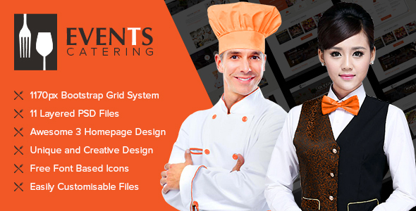 Events Catering - PSD Templates