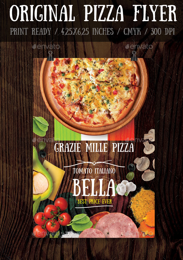Original Pizza Flyer Template - Print Templates