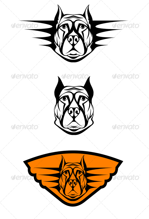 Set of guard dogs - Animals Characters