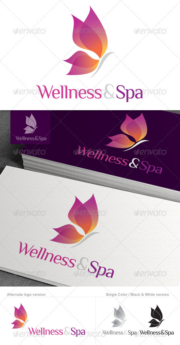 Wellness & Spa Logo - Nature Logo Templates